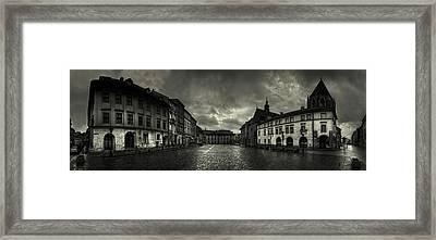 City In The Rain Framed Print