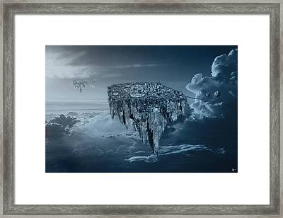 City In The Sky Framed Print by Nicholas  Grunas