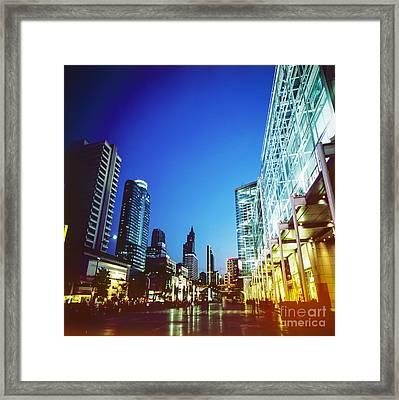 City In Twilight Framed Print by Setsiri Silapasuwanchai