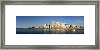 City In Waterfront, Vinaros, Province Framed Print by Panoramic Images