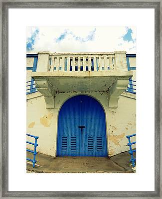City Island Bath House Framed Print
