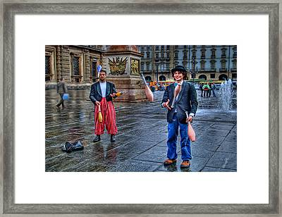 Framed Print featuring the photograph City Jugglers by Ron Shoshani