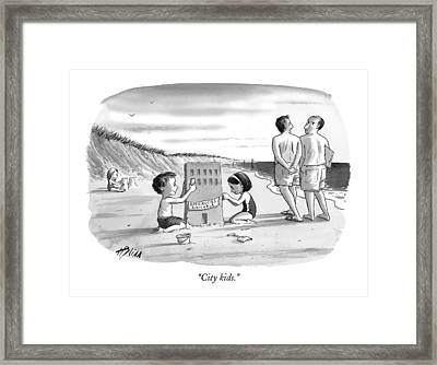 City Kids Framed Print