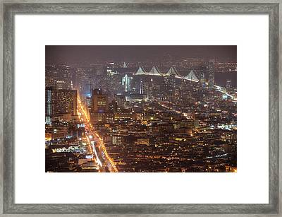 City Lava Framed Print by Peter Thoeny