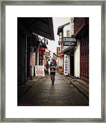Framed Print featuring the photograph City Life In Ancient China by Lucinda Walter