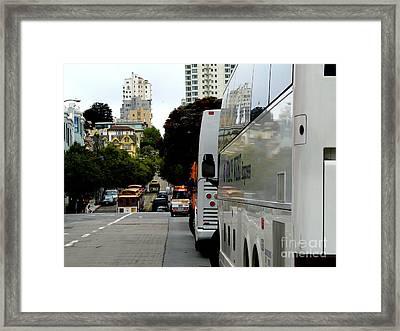 City Life In Frisco Framed Print by Avis  Noelle