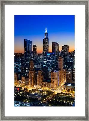 City Light Chicago Framed Print by Steve Gadomski