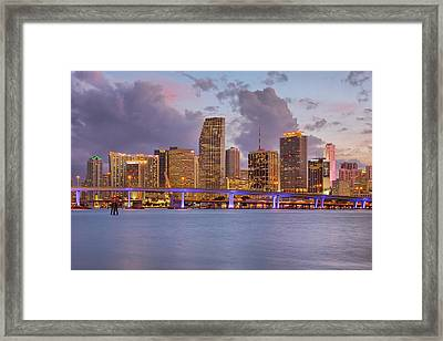 City Lights Framed Print by Claudia Domenig