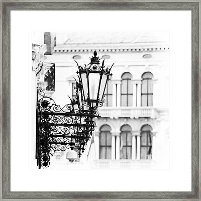City Lights In Venice Framed Print