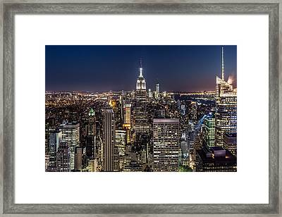 City Lights Framed Print by Mihai Andritoiu