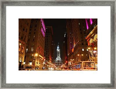 Philadelphia City Lights Framed Print
