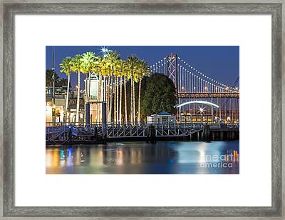 City Lights On Mission Bay Framed Print