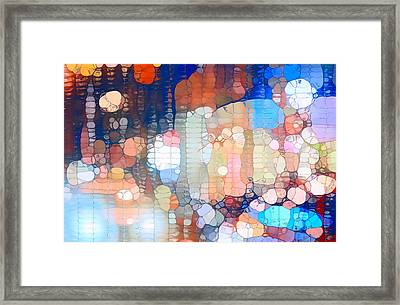 City Lights Urban Abstract Framed Print by Dan Sproul