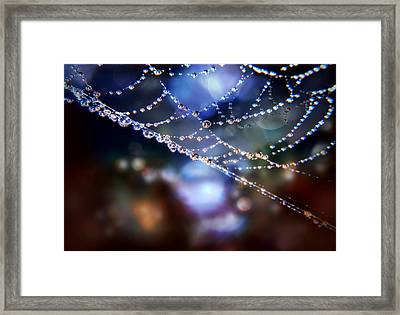 Framed Print featuring the photograph City Lights by Valerie Anne Kelly