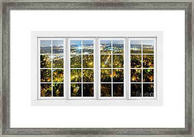 City Lights White Window Frame View Framed Print by James BO  Insogna