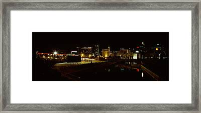 City Lit Up At Night, Cape Town Framed Print by Panoramic Images