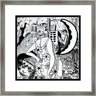 City Livin' Mamma - Within Border Framed Print by Leanne Seymour