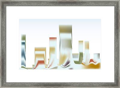 Framed Print featuring the digital art City Mesa by Kevin McLaughlin