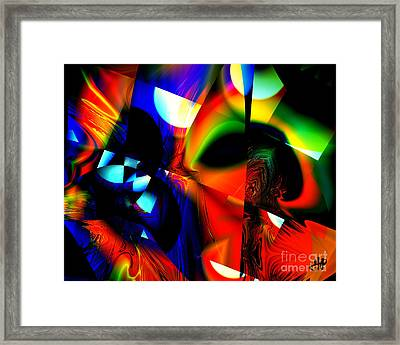 City Moon Shadow Framed Print