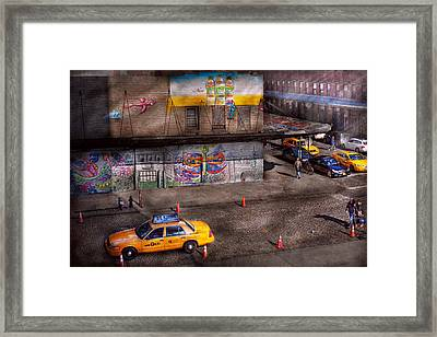 City - New York - Greenwich Village - Life's Color Framed Print by Mike Savad