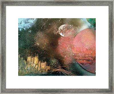 City Night Lights Framed Print