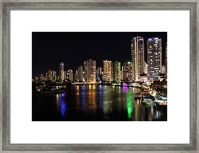 City Night Scene Framed Print by Xin Yan
