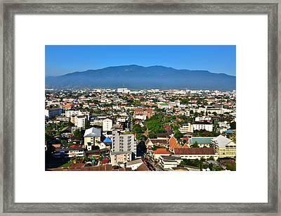 City Framed Print by Nuttapong Wongcharoenkit