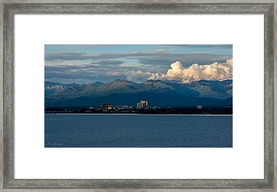 City Of Anchorage  Framed Print