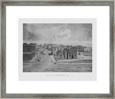 City Of Atlanta 1863 Framed Print by War Is Hell Store