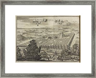 City Of Babylon And Surrounding Area Framed Print by British Library