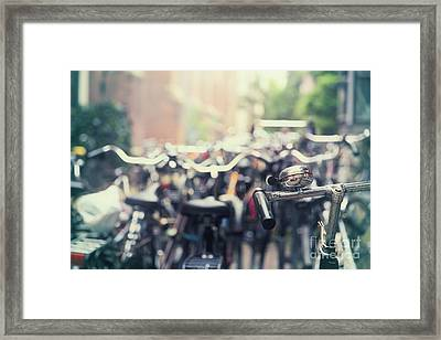 City Of Bikes Framed Print by Jane Rix