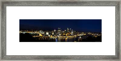 City Of Bridges Framed Print by Kathy Ponce