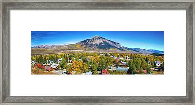 City Of Crested Butte Colorado Panorama   Framed Print