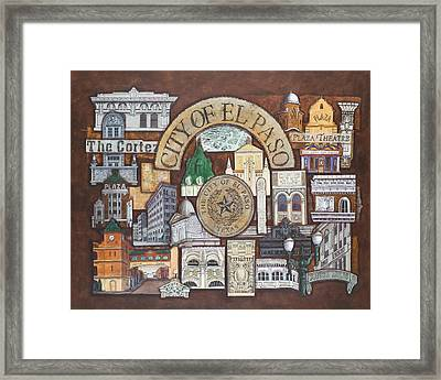 City Of El Paso Framed Print by Candy Mayer