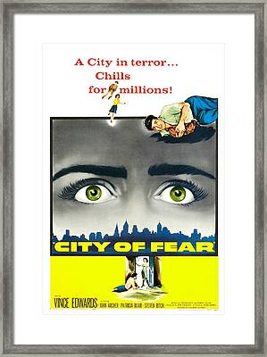 City Of Fear, Us Poster, Vince Edwards Framed Print by Everett