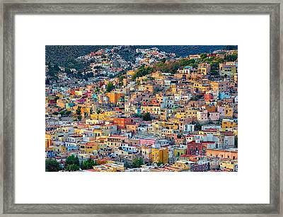 City Of Guanajuato Framed Print by Nicola Fiscarelli