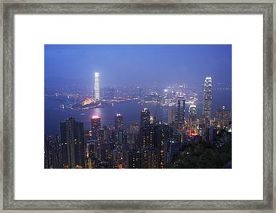 Framed Print featuring the photograph City Of Haze by Afrison Ma