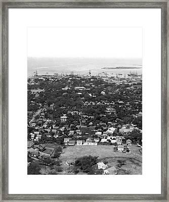 City Of Honolulu Framed Print