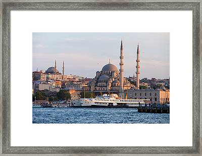 City Of Istanbul At Sunset Framed Print