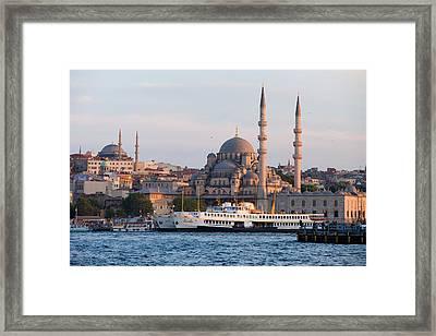 City Of Istanbul At Sunset Framed Print by Artur Bogacki