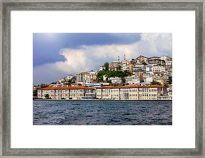 City Of Istanbul Cityscape Framed Print by Artur Bogacki
