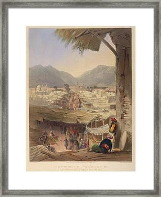 City Of Kandahar Framed Print by British Library