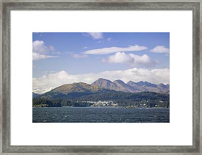 City Of Kodiak On Monashka Bay Kodiak Framed Print by Kevin Smith
