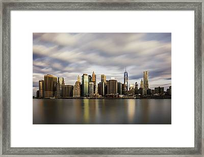 Framed Print featuring the photograph City Of Light by Anthony Fields