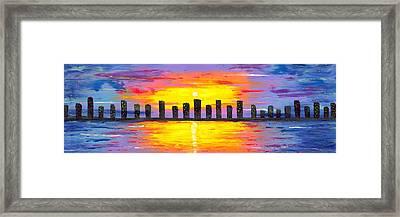 City Of Lights Framed Print by Jessilyn Park