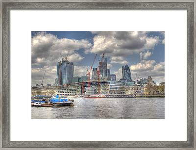 City Of London As Viewed From City Hall Framed Print by Ash Sharesomephotos