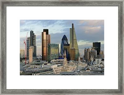 City Of London Brand New Skyline 2014 Framed Print by Vladimir Zakharov