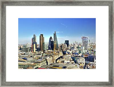 City Of London Skyline Framed Print by Vladimir Zakharov