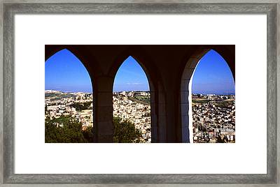 City Of Nazareth Framed Print by Thomas R Fletcher