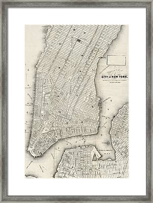 City Of New York Circ 1860 Framed Print by Edward Fielding